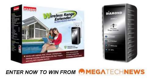 CLOSED! MEGATech Weekly Giveaway 1 of 3: Win a Diamond Multimedia WR300N Wireless Range Extender   diamond contest1 500x265