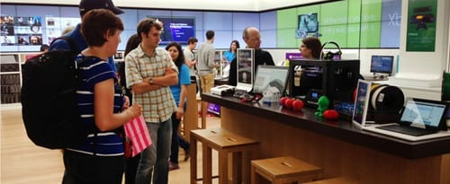 MakerBot Expanding its 3D Demonstration to More Microsoft Stores   makerbot