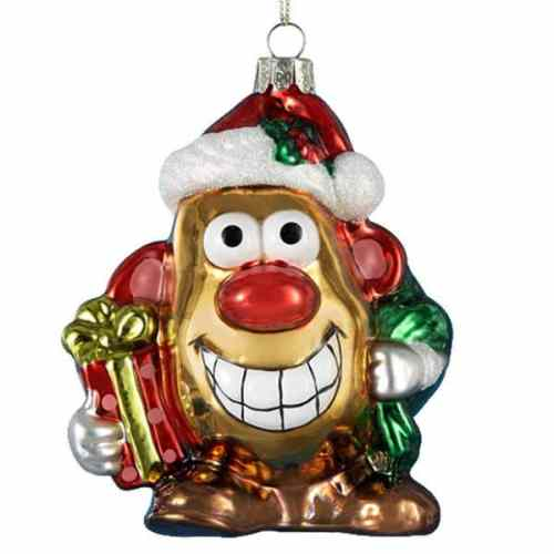 MEGATech Showcase: Last Minute Christmas Ideas   Mr Potato Head Glass Christmas Ornament 500x500
