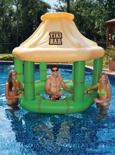 MEGATech Showcase: Summertime Beat the Heat Gear   Swimming Pool Inflatable Floating Tiki Swim Up Bar wIce Coolers 372x500