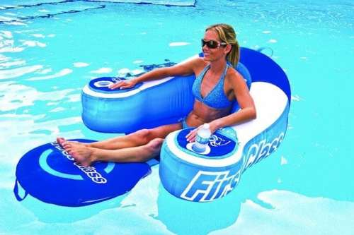 MEGATech Showcase: Summertime Beat the Heat Gear   first class pool lounger 500x333