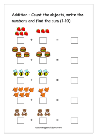 Addition Worksheets 1 10 Free Worksheets Library ...