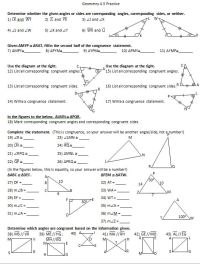 Congruent Triangles Worksheet With Answers - everything ...