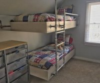 Boys Room Makeover With Floating Bunk Beds - www ...