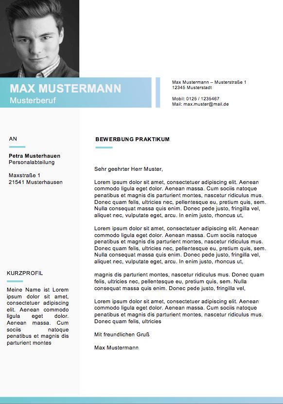 Bewerbungsvorlagen Und Muster 2018 - Meinebewerbung.Net