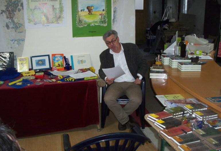 Autor Franz Kohout während der Lesung in Wiesentheid (Foto: HJS)