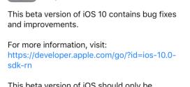 Apple rilascia iOS 10 beta 3 agli sviluppatori [link download]