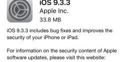 Apple rilascia iOS 9.3.3 per iPhone, iPad ed iPod touch [link download]