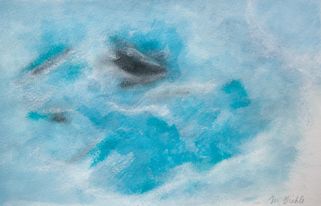 Blue Abstract Paintings Iceland And Oceans Melanie Biehle