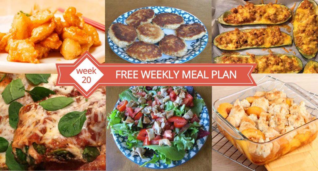 FREE Weekly Meal Plan (Week 20) \u2013 Easy Recipes  Family Dinner Ideas