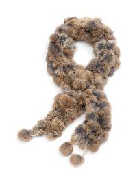 Rabbit Fur Pom-Pom Scarf   Melanie Lyne