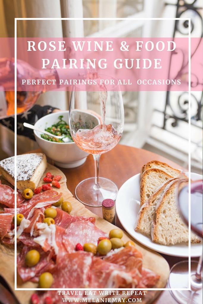 Rosé Wine Food Pairing Guide Travel Eat Write Repeat