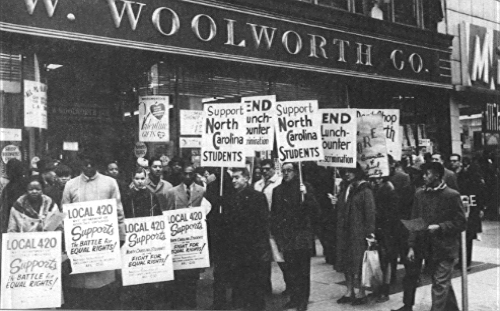 Woolworth's store in Greensboro in 1960, now the home of the International Civil Rights Center and Museum.