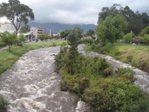 The Tomebamba River in Cuenca.