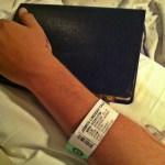 Jamie Caulk in hospital