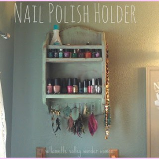 DIY nail polish holder