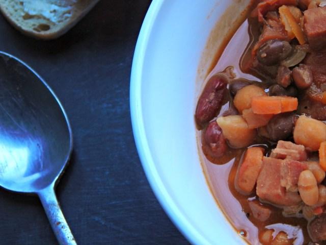 simple ham and beans recipe / Melissa Kaylene