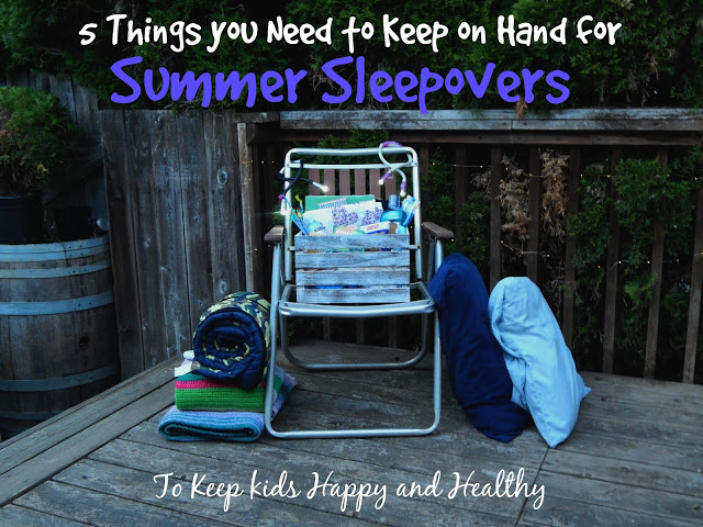 Tips to keep kids happy and healthy during sleepovers + 5 things you need to always keep on hand. #rewardhealthychoices #ad