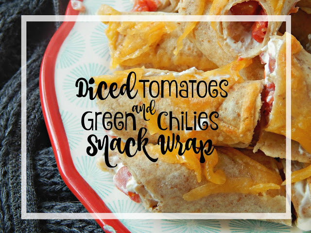 Diced Tomatoes & Green Chilies Snack Wraps #HomemadeDelicious AD