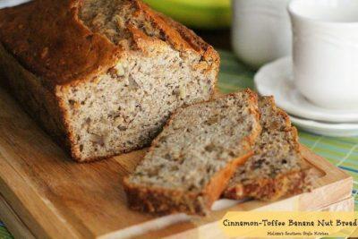 Cinnamon Toffee Banana Nut Bread - melissassouthernstylekitchen.com