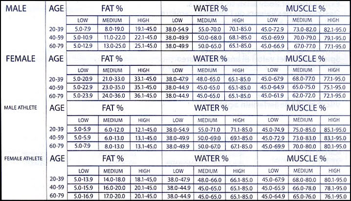 Body Fat Calculator - MPOWERment - Do More Be More - body fat chart