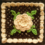 Crochet Irish Rose Square