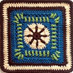 Crochet Raindrop Block Square