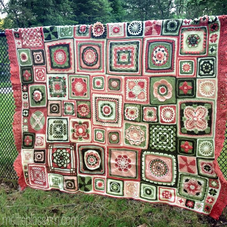 Crochet Along Blanket - finished squares