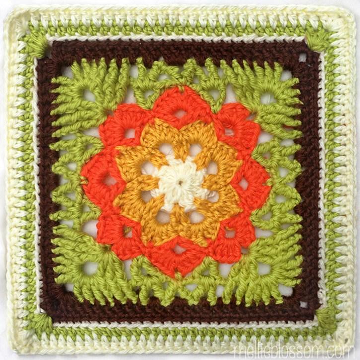 2017 Crochet Along - Kaleidoscope Square - mellieblossom.com