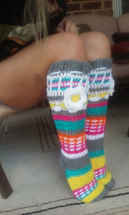 Free Spirit Knee High Slipper Socks