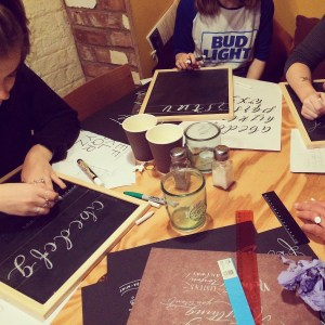 Learn Chalk Lettering at a Mellor and Rose Lettering Workshop - Lancashire, Yorkshire & Merseyside (Lytham, Blackpool, Preston, Lancaster, Southport, Liverpool, Manchester, Harrogate and Mawdesley)
