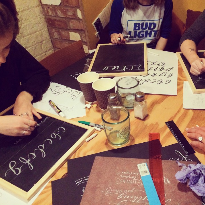 Chalk Lettering workshop with Mellor and Rose in Lancashire, Yorkshire and Merseyside