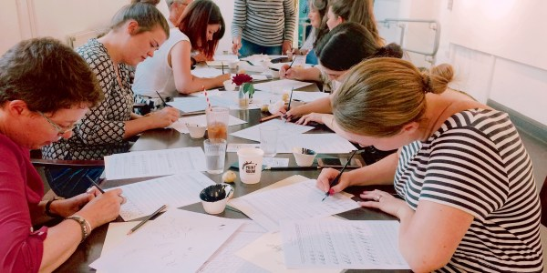 Beginners Modern Calligraphy workshop with Mellor and Rose: Printroom Cafe, Lancaster