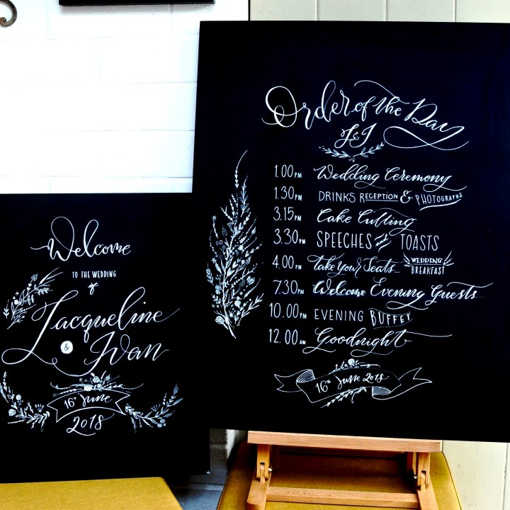 Hand Lettered Chalkboards by Mellor and Rose