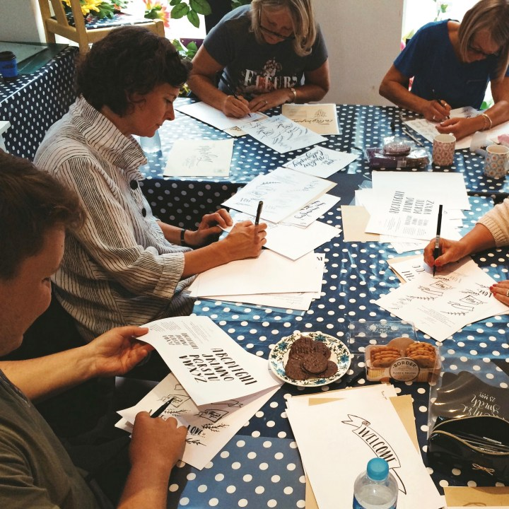 Introductory Brush Lettering  workshop: The Creative Studio, Southport (Mellor and Rose)