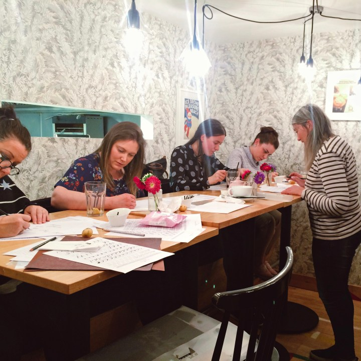 Beginners Modern Calligraphy workshop: Montagues, Blackpool (Mellor and Rose)