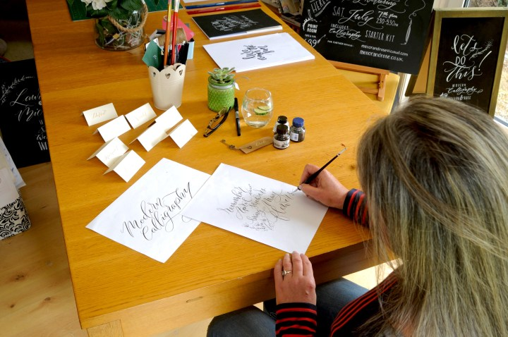 Hand lettering & Calligraphy Artists Beverley Mellor and Polly Mellor of Mellor and Rose in Lancashire