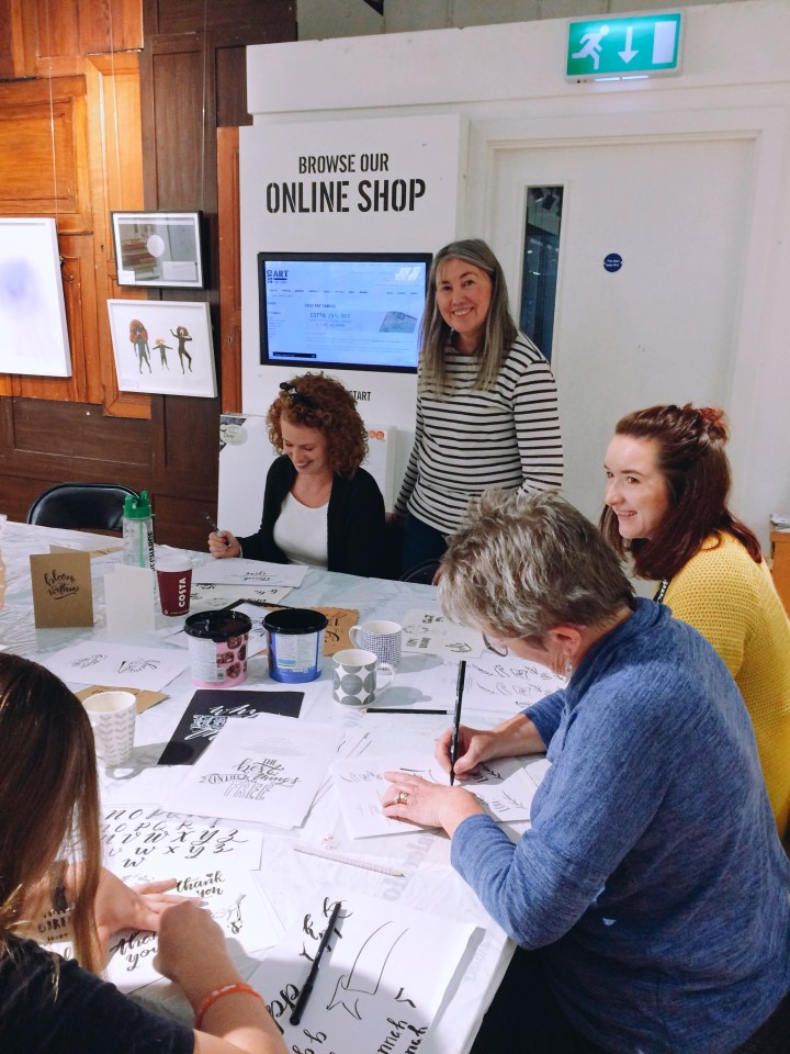 Introductory Tombow Brush Lettering workshop with Mellor and Rose at CASS Art Liverpool