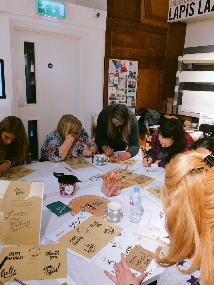 TOMBOW Brush Lettering workshop with Mellor & Rose at CASS Art Liverpool