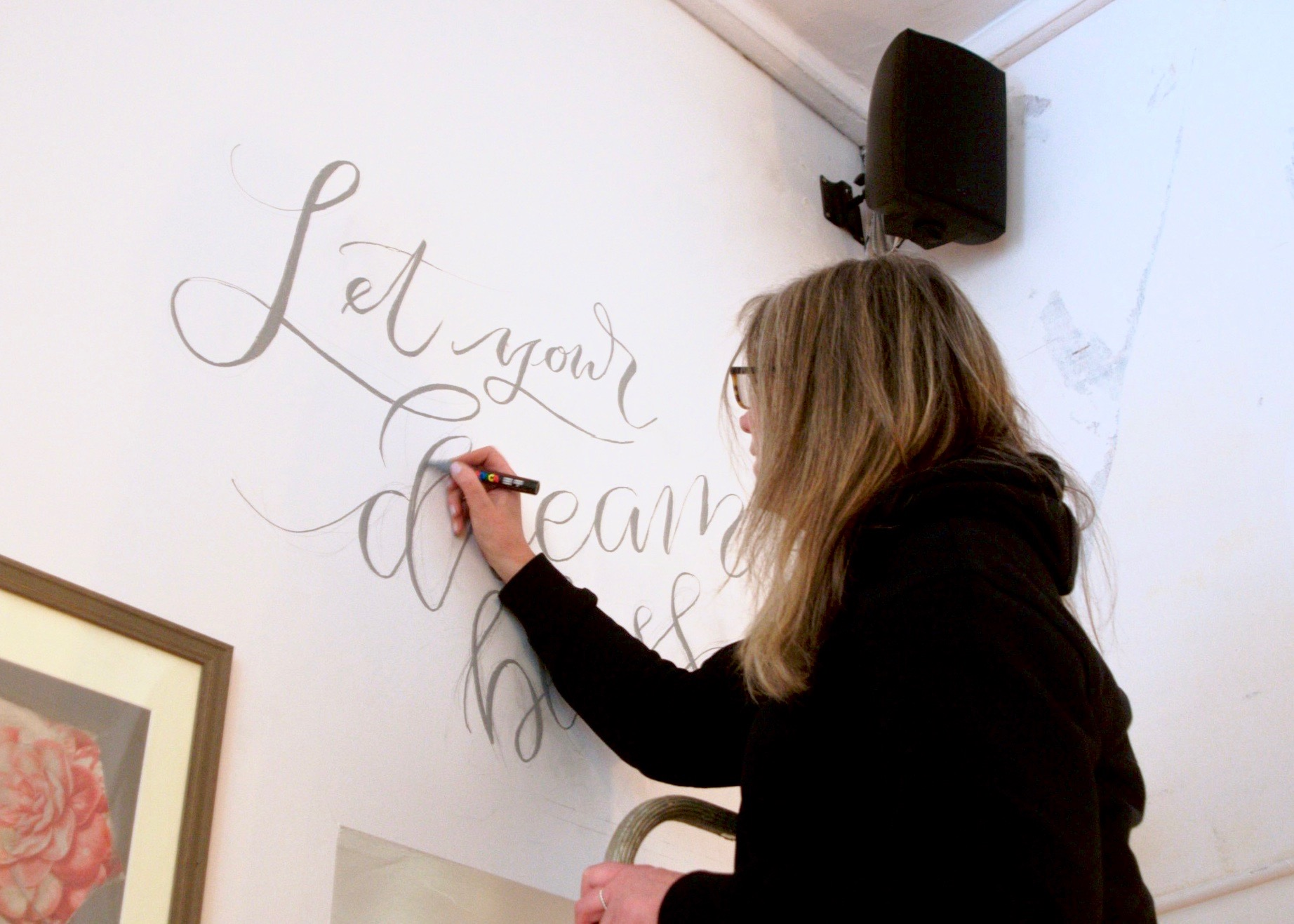 Hand Lettered Typography & Calligraphy Murals and Wall Art by Beverley Mellor & Polly Mellor or Mellor and Rose in Lancashire