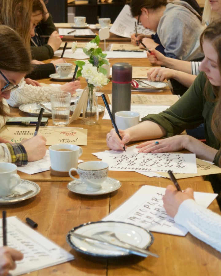 Introductory Tombow Brush Lettering workshop with Mellor and Rose // Mellor & Rose // Lancashire