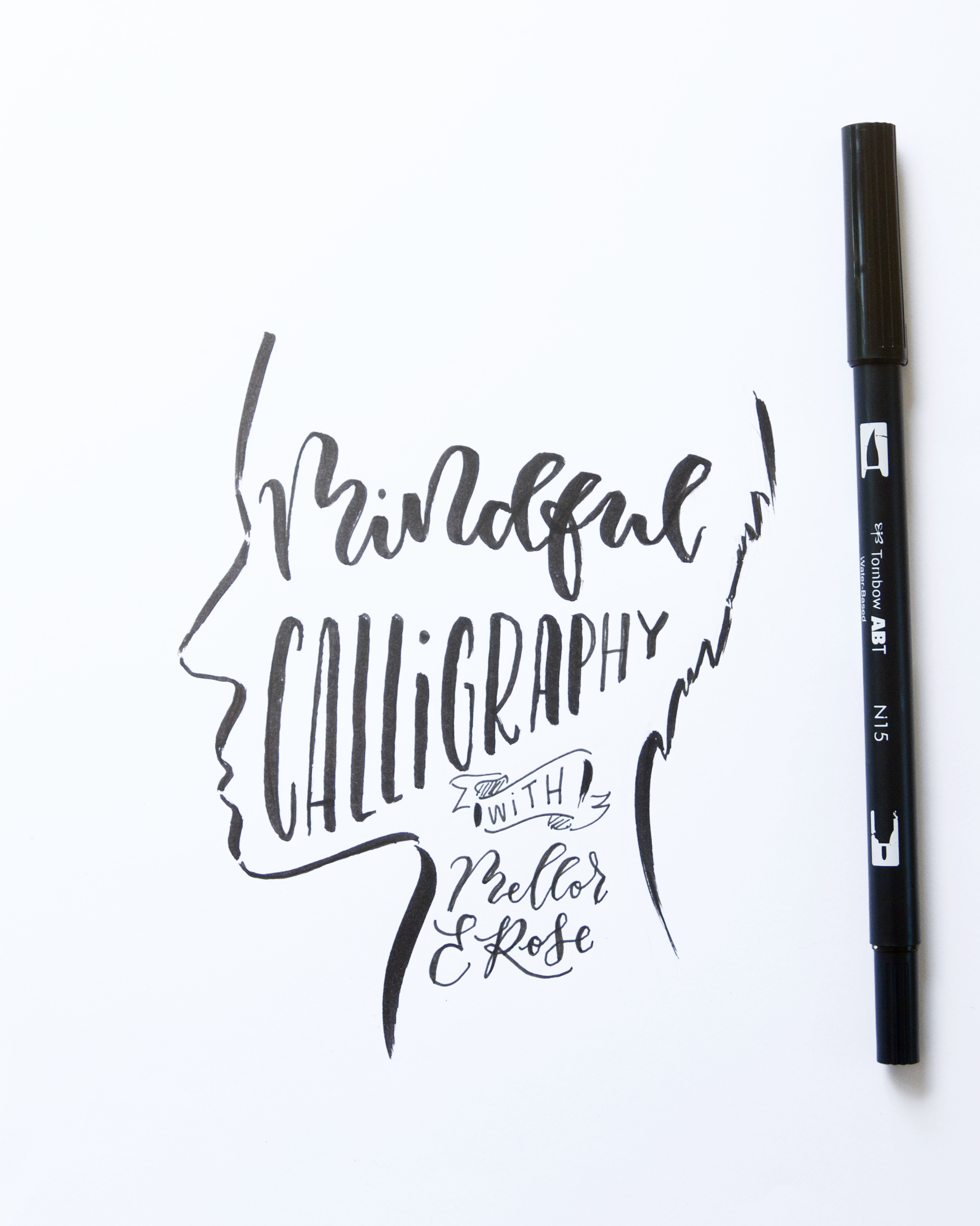 How Mindful Calligraphy combats Stress with Mellor and Rose // Mellor&Rose