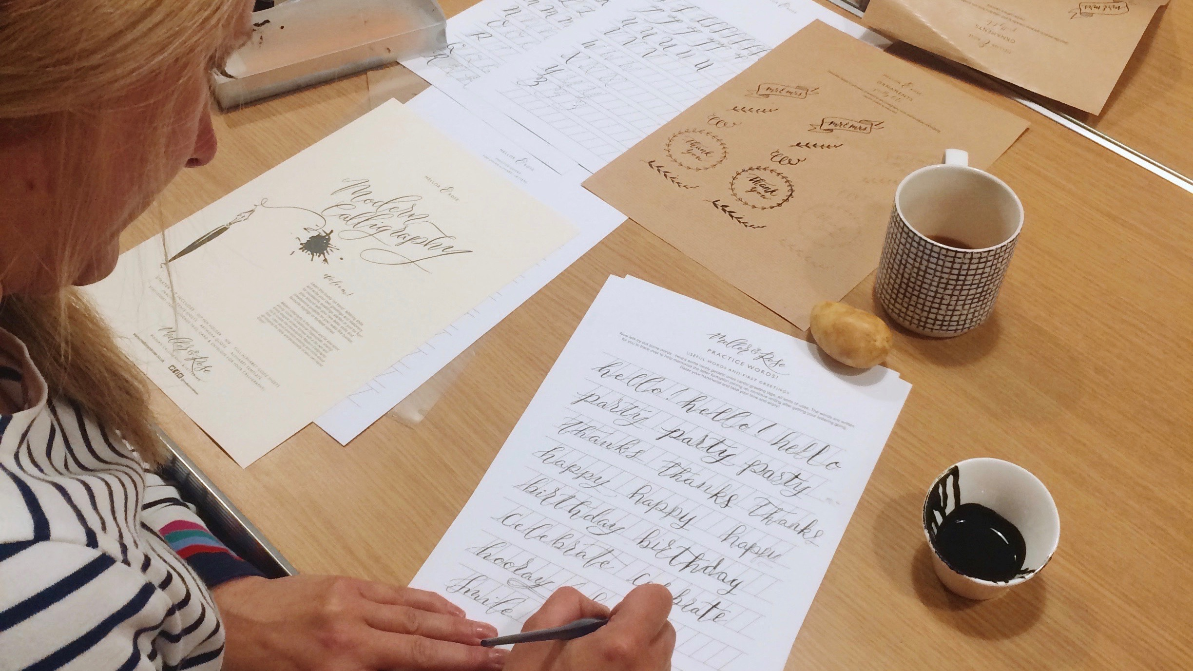 Calligraphy workshops in Lancashire