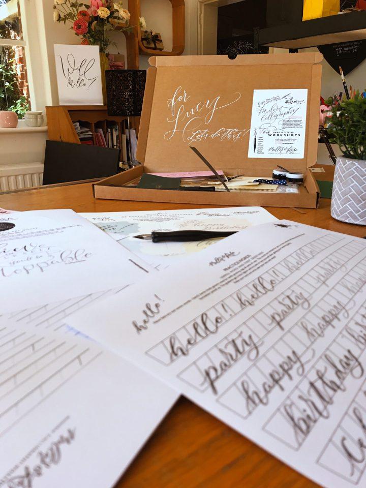 Calligraphy Workbooks by Mellor & Rose Lytham