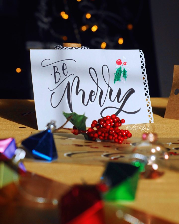 TOMBOW Brush Lettering workshop with Mellor & Rose