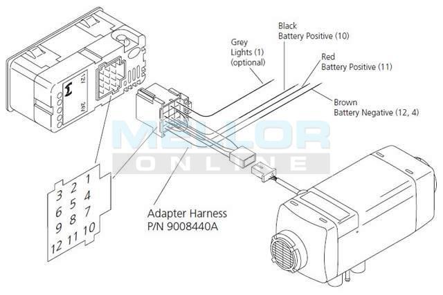 webasto wiring diagram