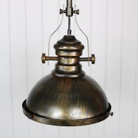 Gold black retro industrial style ceiling light fitting ...