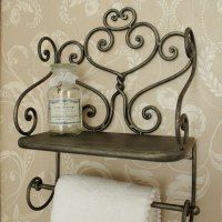 Towel Holder with Shelf