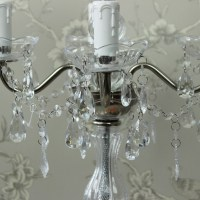 Vintage Silver Candelabra Style Table Lamp - Melody Maison