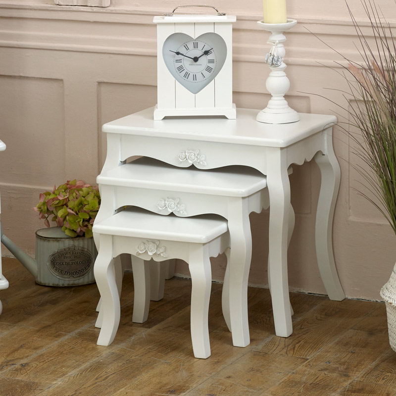 Rosa Range White Nest Of Tables Melody Maisonr